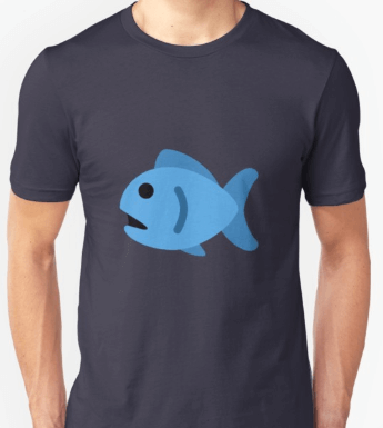 Blue fish shirt